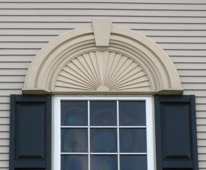 window styles with ornate header