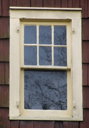no storm window six over one window