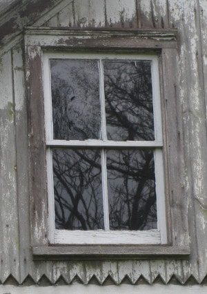 old rustic weathered window