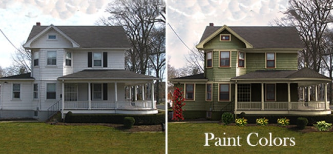 historic paint colors before and after