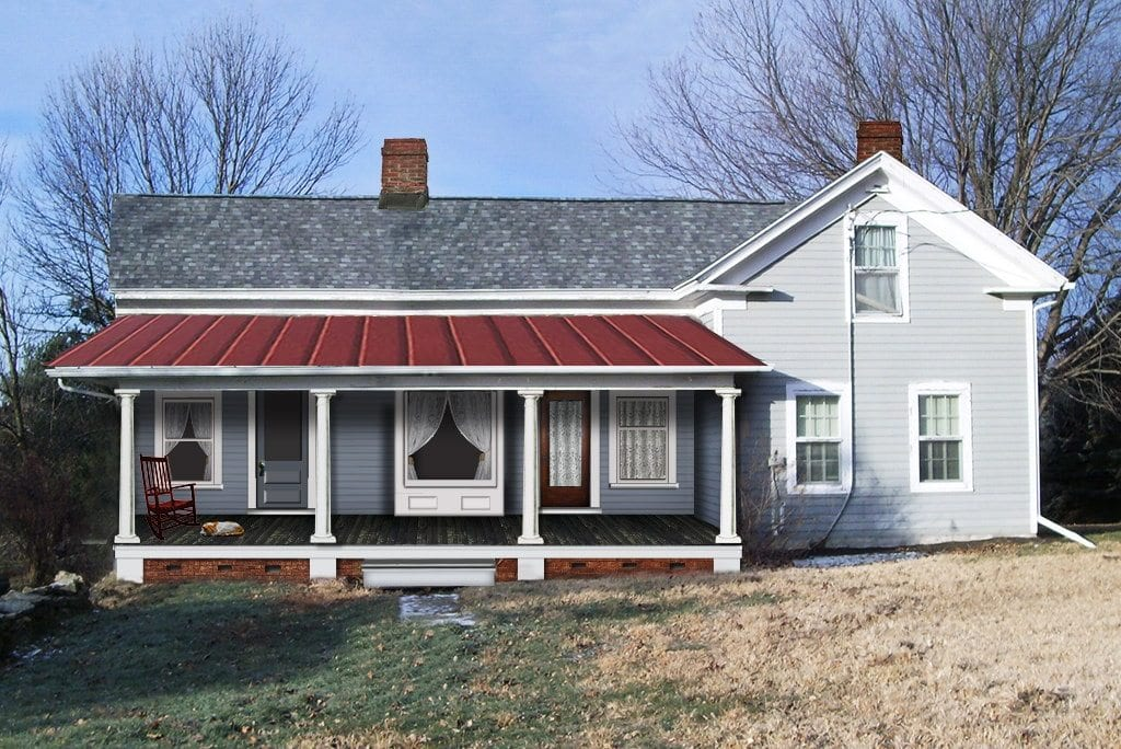 Standing Seam Metal Roof Farmhouse