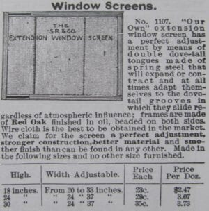 adjustable screen window