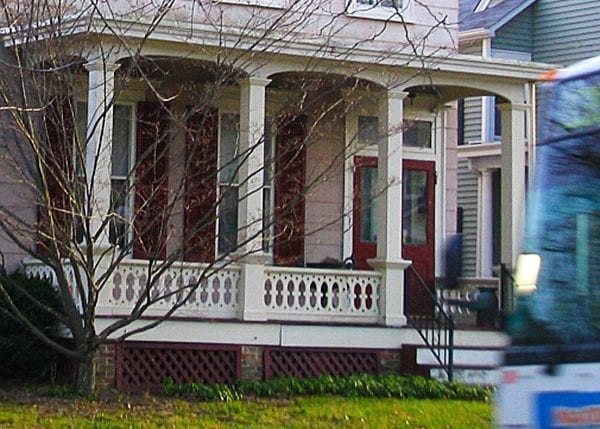 historic sawn baluster porch