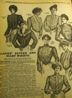 Shirtwaists advertisement 1902