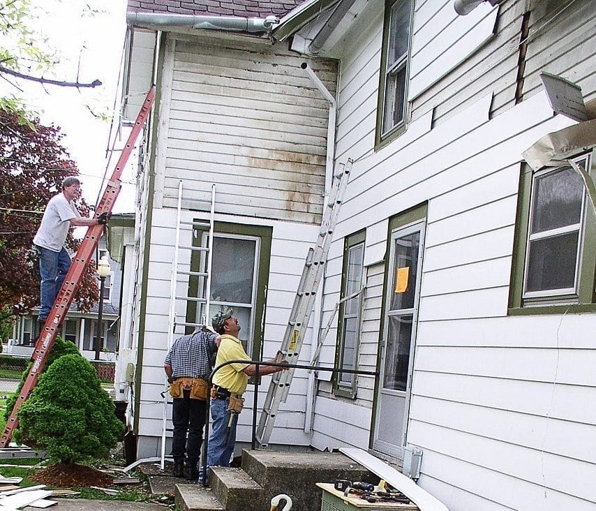 The great unveiling removing vinyl siding oldhouseguy blog for Vinyl siding house plans