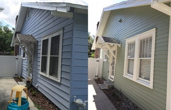 with vinyl siding vinyl removed