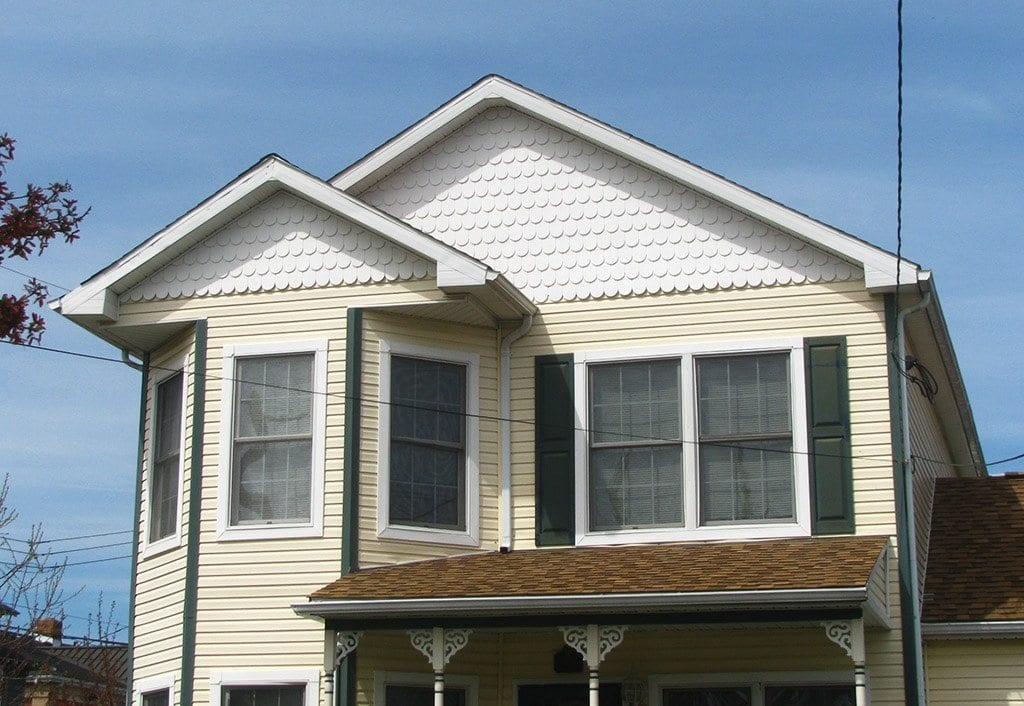 Mistakes using fancy cut decorative shingles oldhouseguy for Classic house vinyl