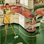 congoleum floor in timeless kitchen 1950's