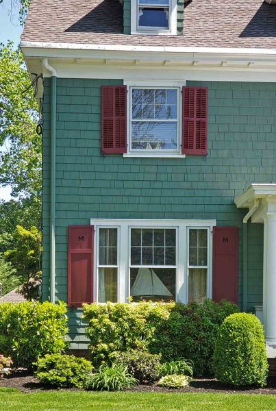 1920's Colonial Revival shutters