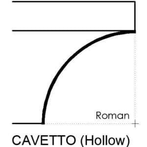 cavetto terminating molding