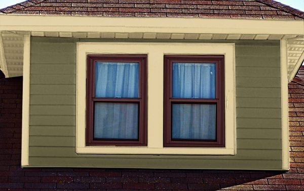 sussex green body with cream trim and dark window sash