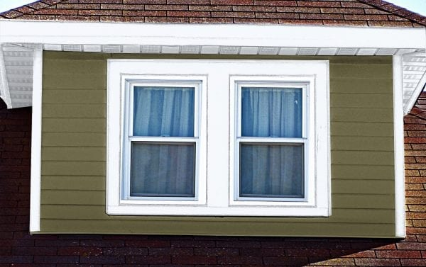 white trim and white windows