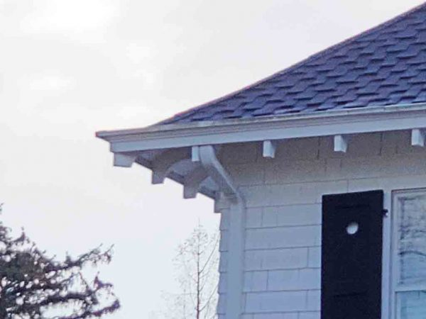 box gutter on colonial revival