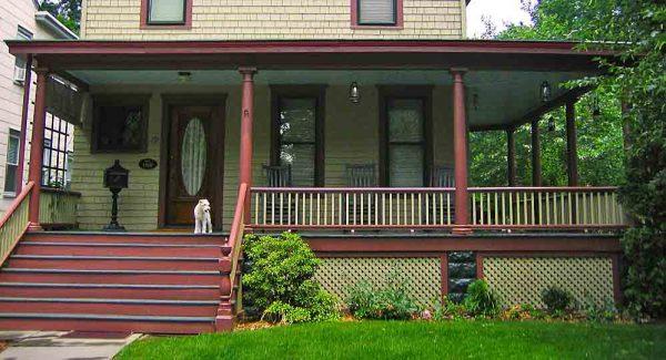 flat tin porch roof