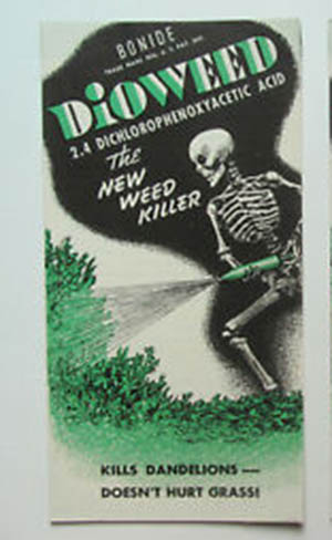 dioweed killer for dandelions 1950's