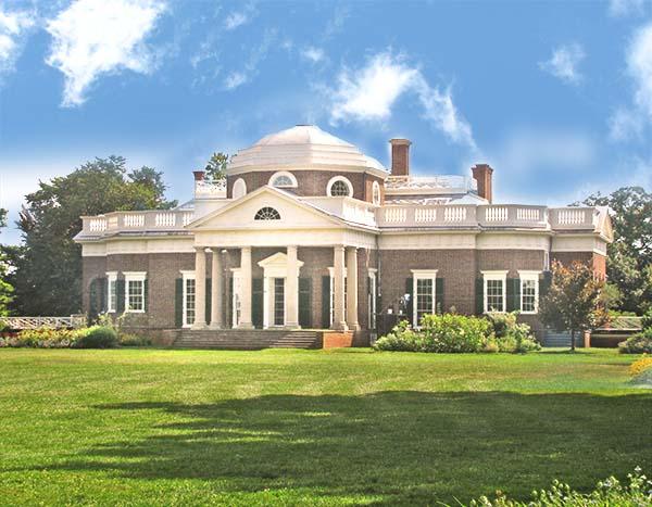 historic lawn at Monticello