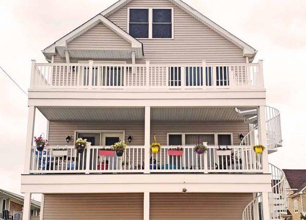 ugly window boxes on balcony ocean ave. Sea Bright NJ