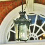 hanging historic exterior light fixture