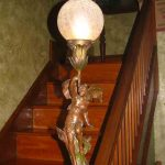 antique newel post light
