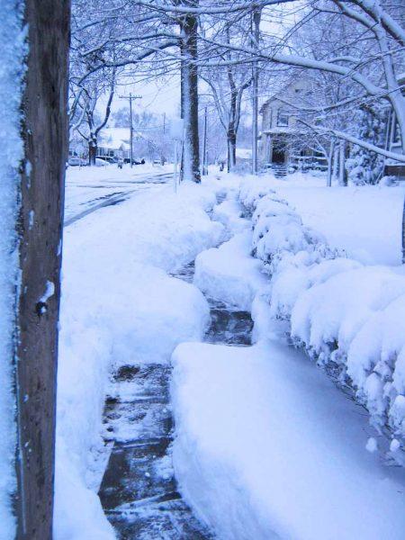 crooked snow path